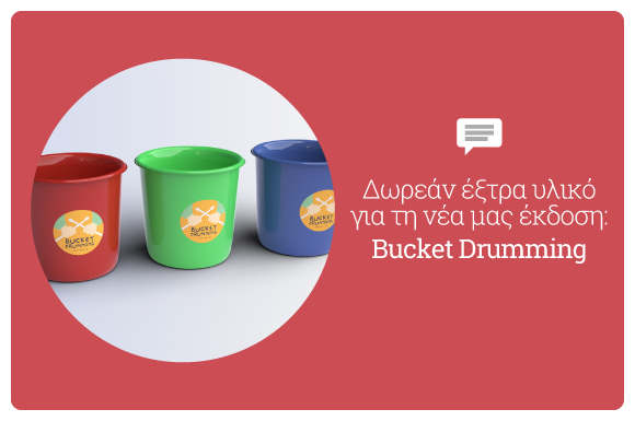 Bucket Drumming Stickers