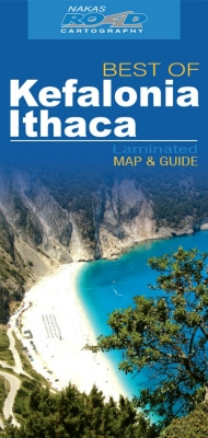 Kefalonia - Ithaca, road - tourist map