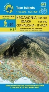 Cephalonia-Ithaca, hiking map [9.3] (1:65.000 / 1:25.000)
