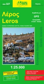 Leros road- hiking map (1:25.000)