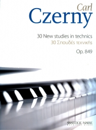 Czerny 30 new studies in technics Op. 849