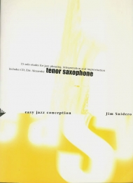 Easy jazz conception for tenor saxophone